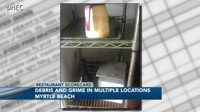 Debris and grime were found at one area eatery.