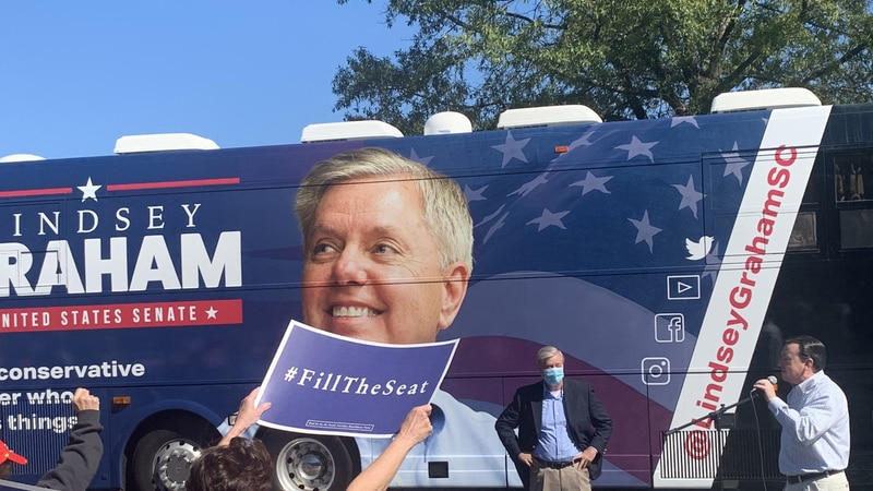 Graham hosts rally in Columbia as closely watched Senate race reaches the final stretch