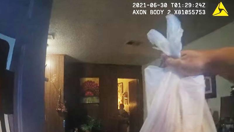 A Jonesboro Police Officer was caught on camera completing a DoorDash delivery.