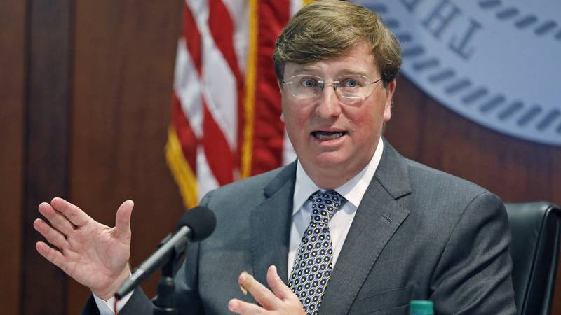 Mississippi Gov. Tate Reeves announces the launch of a workforce training program for workers...