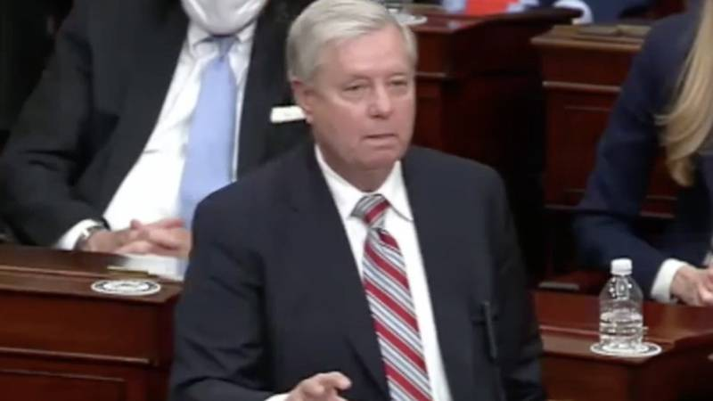 An impassioned Sen. Lindsey Graham reiterated his opposition to challenge President-elect Joe...