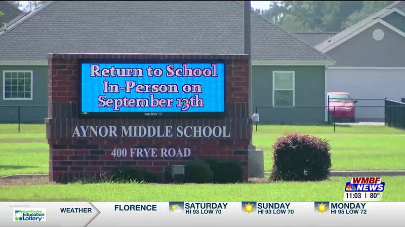 With the most COVID-19 cases among students across Horry County Schools, Aynor Middle School is...