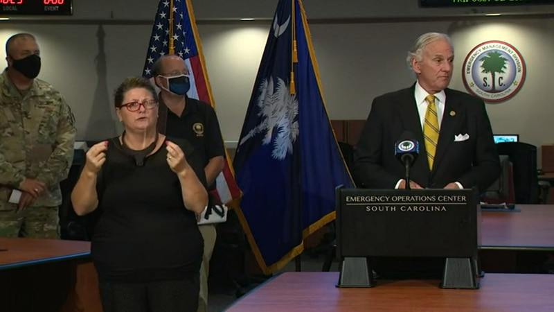 South Carolina Gov. Henry McMaster and sate officials discussed preparations ahead of possible...