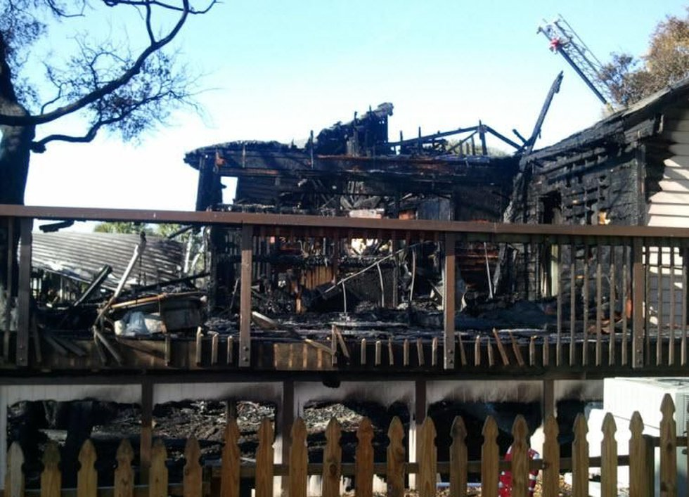Back side of Dead Dog Saloon following early morning fire (Source: WMBF News Reporter Alex...