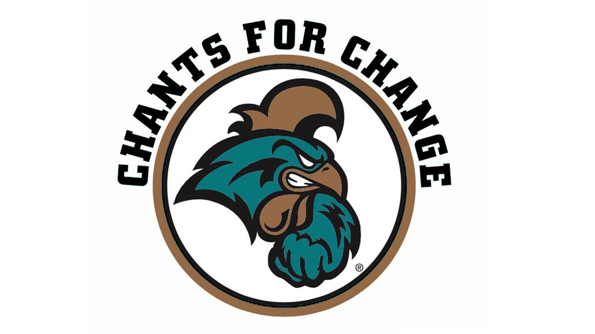 """CCU Men's Basketball team to wear """"Chants for Change"""" patch on backs of jerseys this season...."""