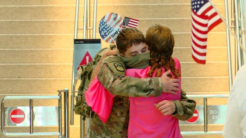 U.S. Army Specialist, Daniel Cole was welcomed home at Myrtle Beach International Airport after...