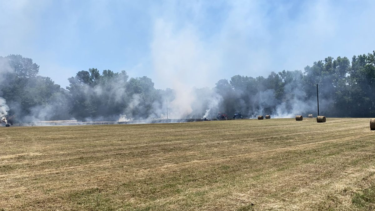 Crews responded to an outdoor fire in Conway Thursday afternoon.