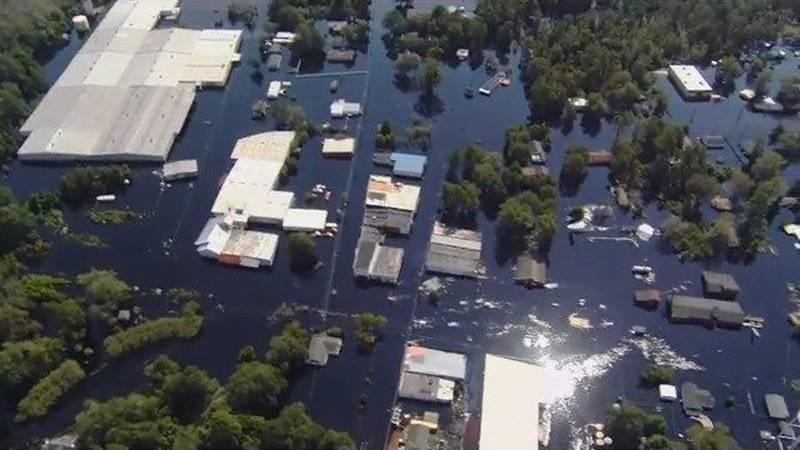 GF Default - RAW: Nichols aerial flood footage