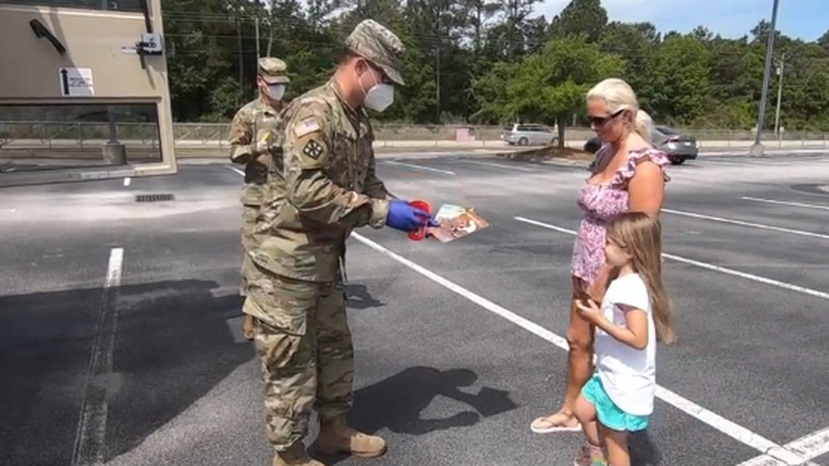 S.C. National Guard delivers food and books to students in Horry County.