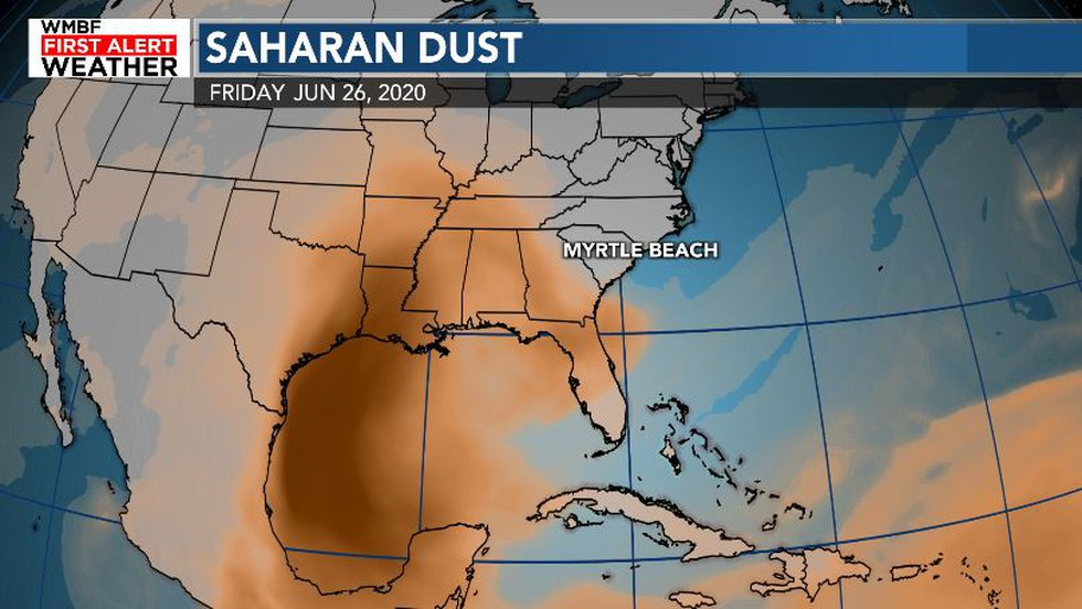 The dust will spread across the Caribbean and into the Gulf of Mexico by the end of the week.
