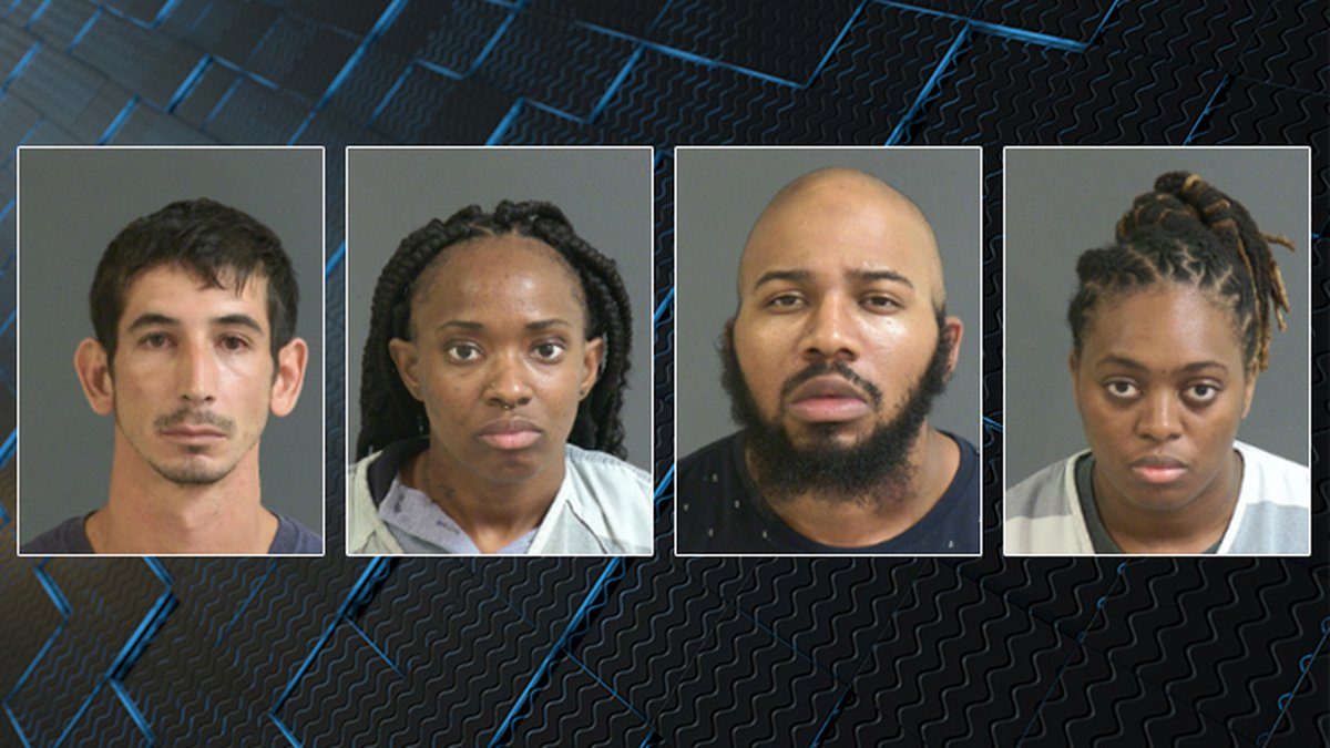 The Charleston County Sheriff's Office arrested Ryan Collins, Danette Perry, Kevin Jones and...