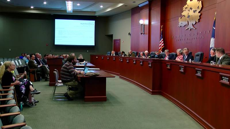 Councilman Harold Worley spoke out against the proposed hospitality tax deal. (Source: WMBF News)