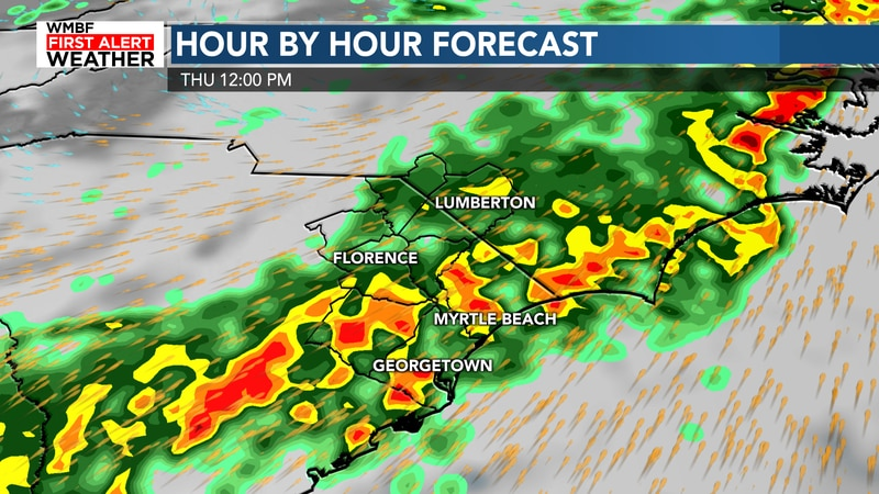 Heavy rain is likely Wednesday and Thursday