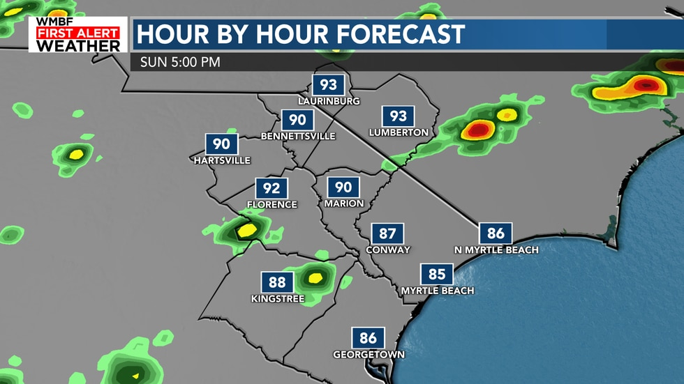 Most of us stay dry but a 20% chance of showers/storms cannot be ruled out for some today.