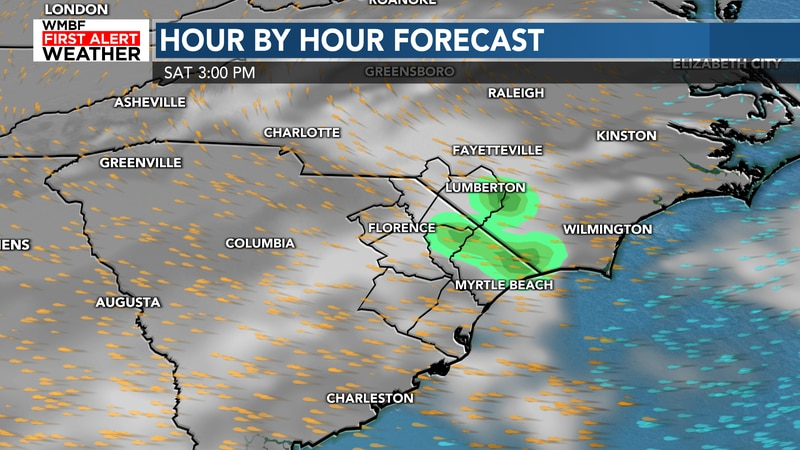 Some showers around this weekend