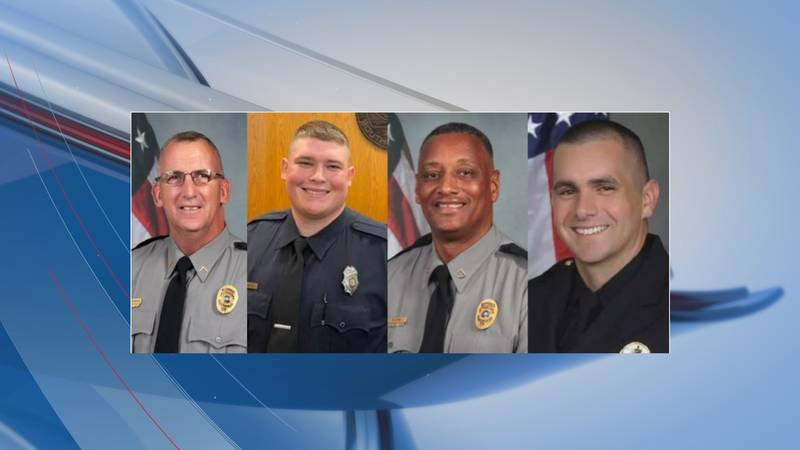 Horry County Police Cpl. Michael Ambrosino, Myrtle Beach Police Ofc. Jacob Hancher, Horry...