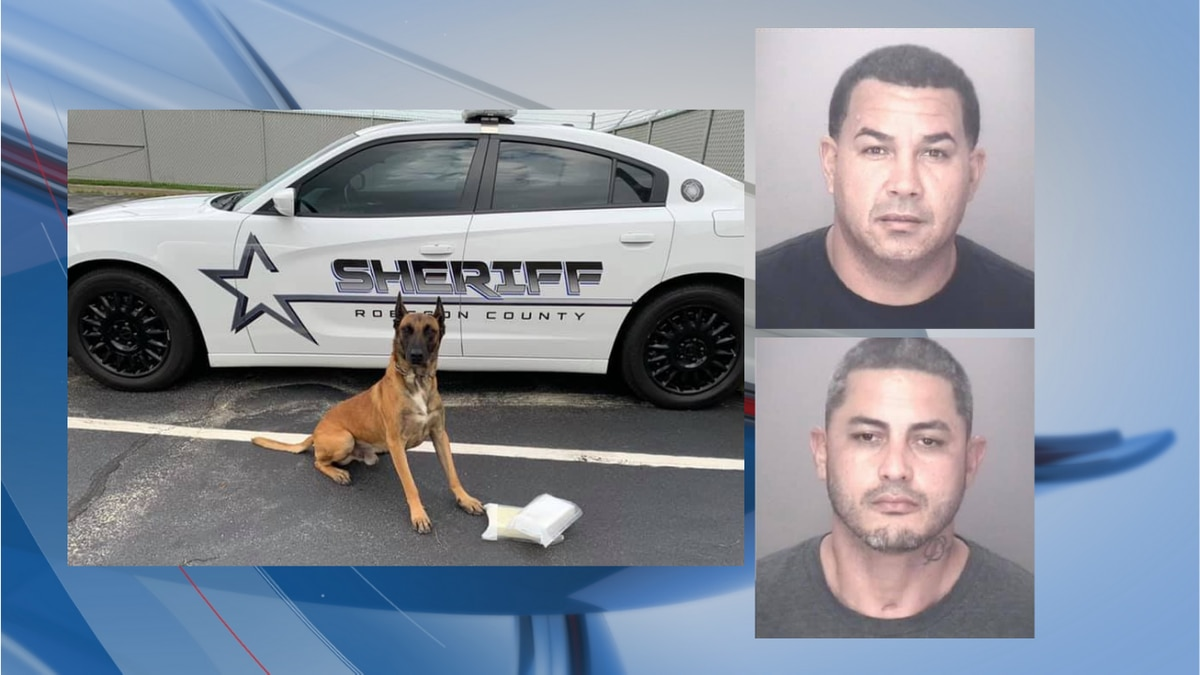 A pair of arrests were made following a traffic stop on Interstate 95 on Tuesday, officials said.