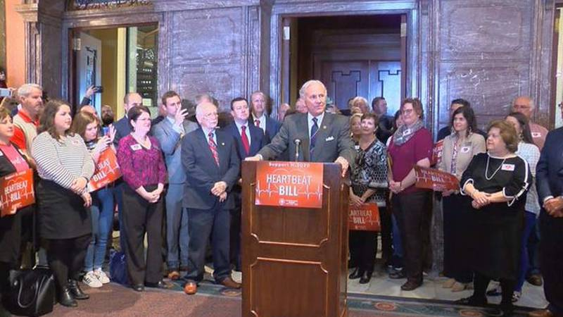 Gov. Henry McMaster spoke at the Statehouse in Columbia Wednesday in support of the so-called...