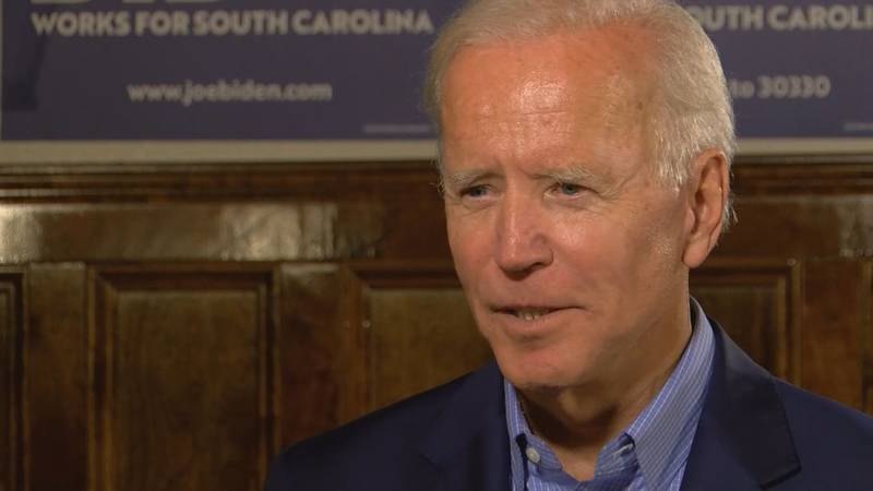 Former vice president Joe Biden speaks to WMBF about his campaign in September 2019.