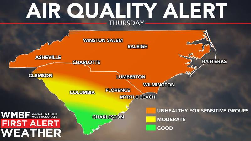Poor air quality possible on Thursday.