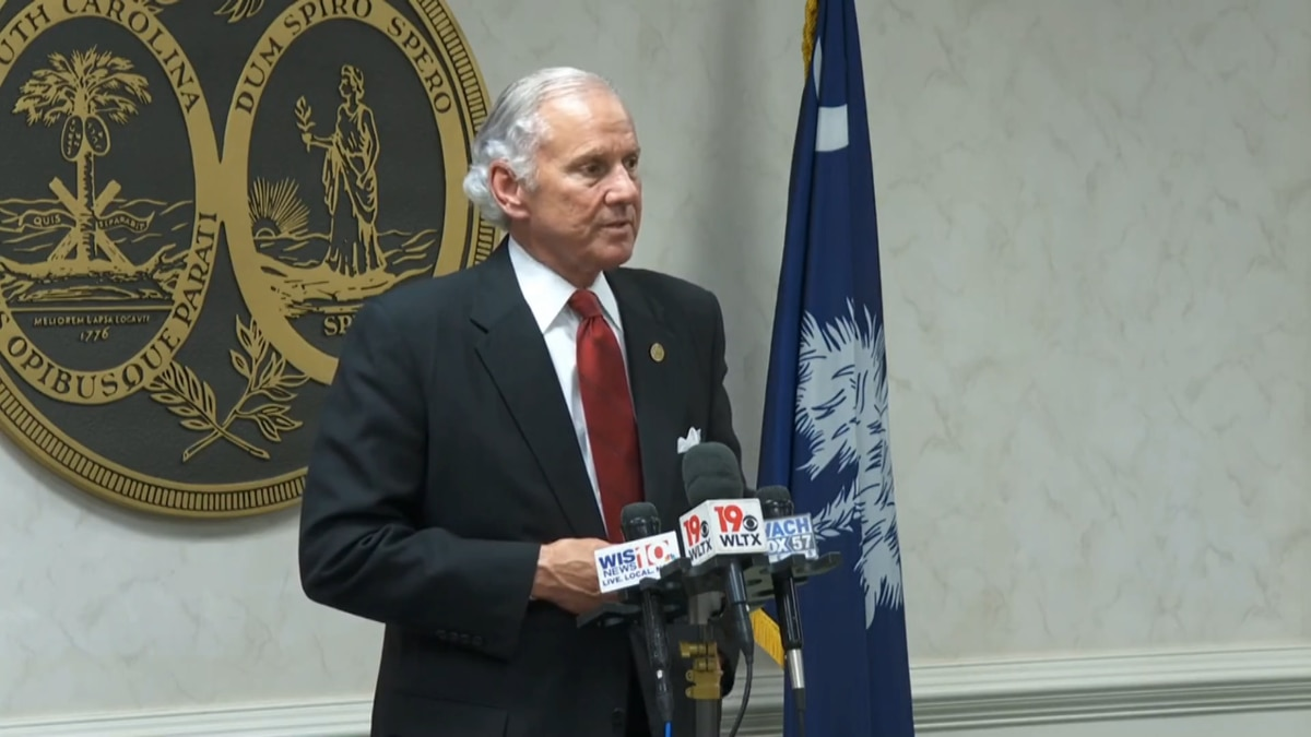 South Carolina Governor Henry McMaster made a statement at Wednesday's press conference. He...