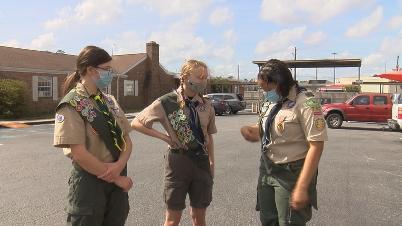 This weekend, the 14 and 15-year-old girls of Boy Scout Troop 742 were surprised to learn their...
