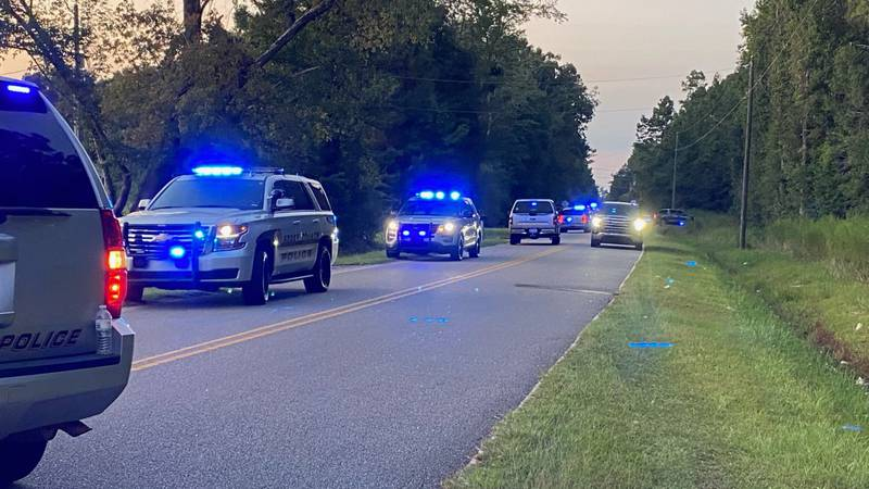 Authorities responding to a trooper-involved shooting in the Longs area on Saturday.