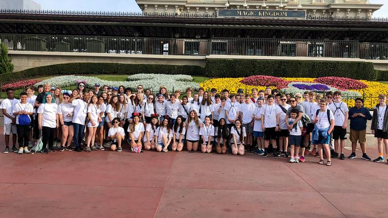Gold Hill Middle School choir and band students were riding back from a trip to Disney World...
