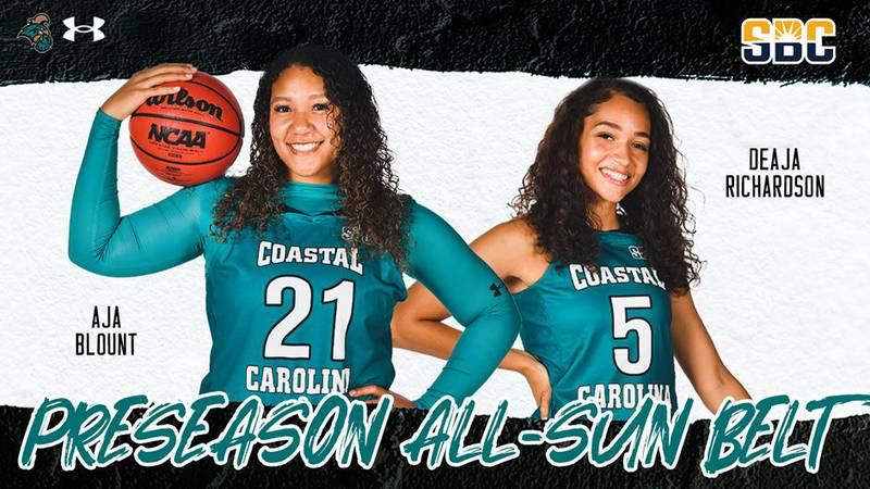 CCU's Aja Blount was named as a Preseason All-Sun Belt first-team selection while teammate...