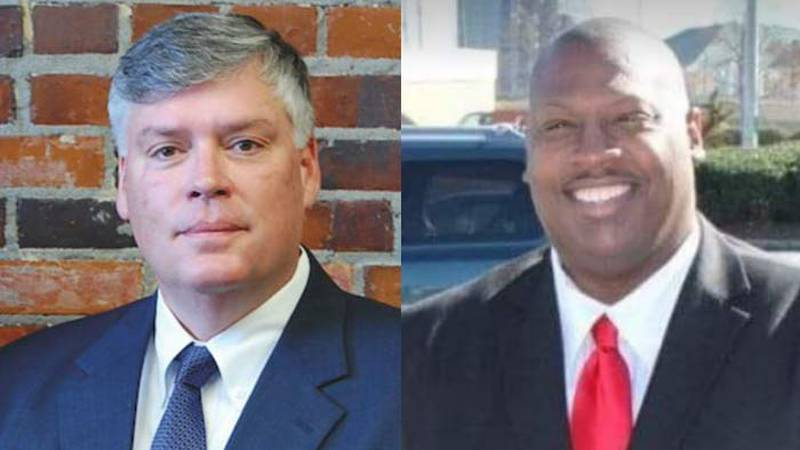 Voters will choose between Interim Sheriff Carter Weaver (left) and Darryel Carr (right), both...