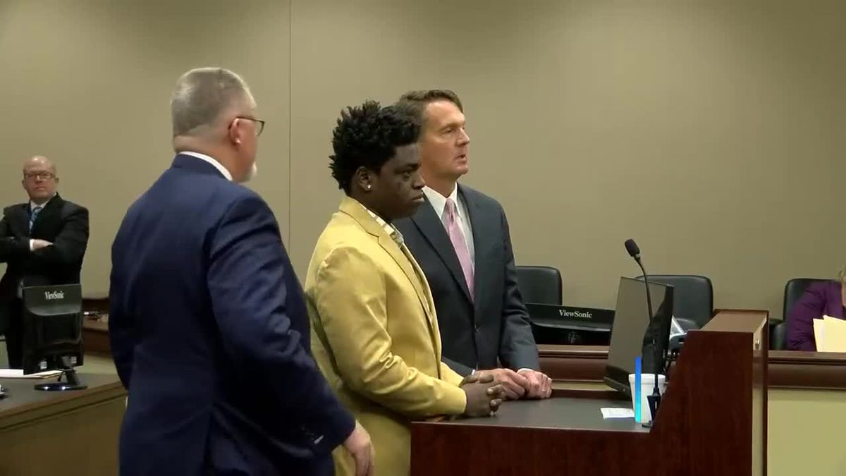 Rapper Kodak Black, center, appeared for a court hearing Thursday in Florence County. (Source:...