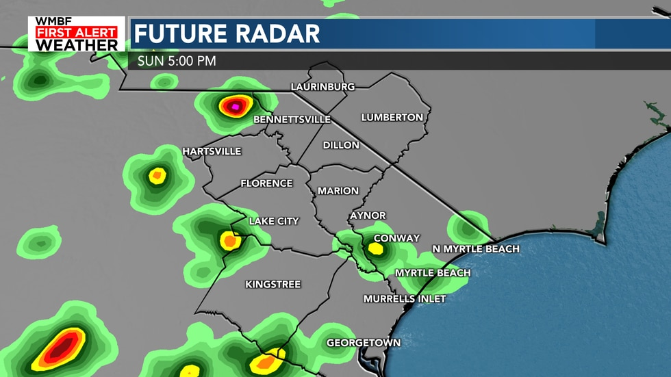 A few showers and storms will be possible this afternoon. Most of us will stay dry.