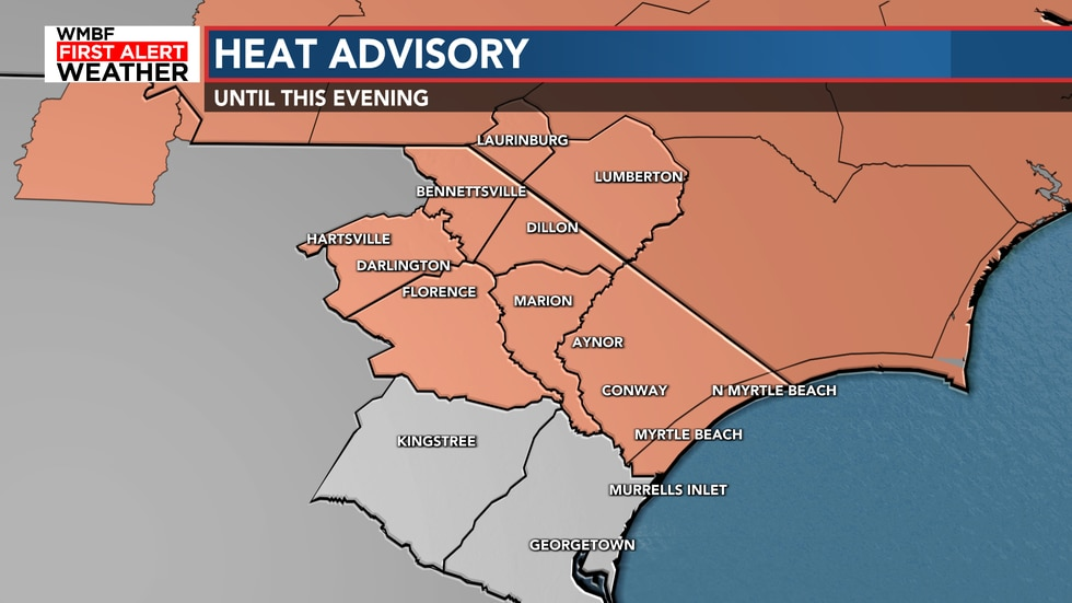 Another heat advisory has been issued for today.