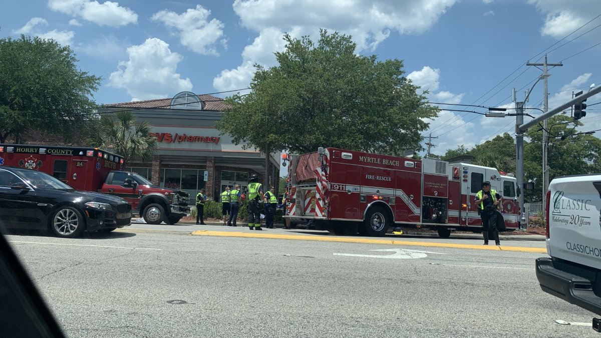 Crews were called to 67th Avenue North and Kings Highway in Myrtle Beach Thursday afternoon for...
