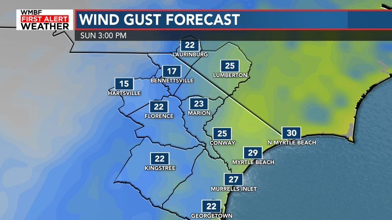 Winds will still be howling today with gusts of 20-30 mph.