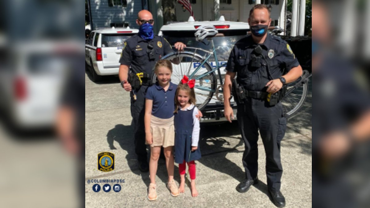 Officers Baire & Avery helped recover their mom's stolen bike.