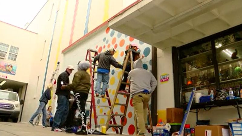 Mural coming to life along Myrtle Beach Boardwalk