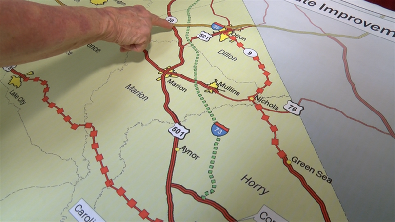 The proposed Interstate 73 has taken a step closer to the start of construction. (Source: WMBF...