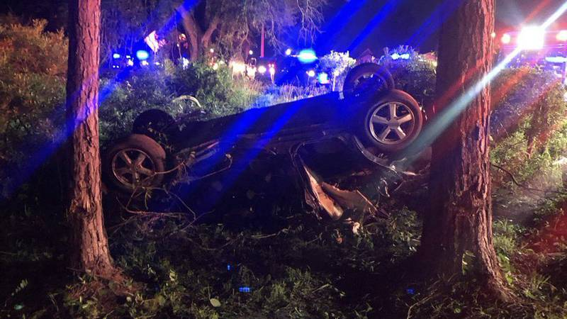 Crews were called to a crash with ejection early Thursday morning in Little River, officials say.