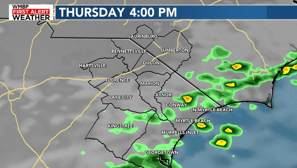 A few showers will be likely Thursday.
