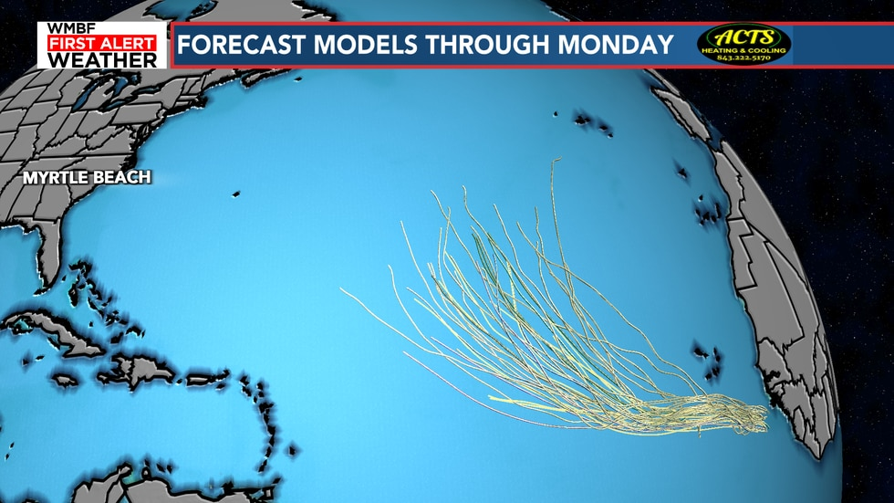 Models continue to turn this system into the Atlantic, a sight we like to see. We will continue...