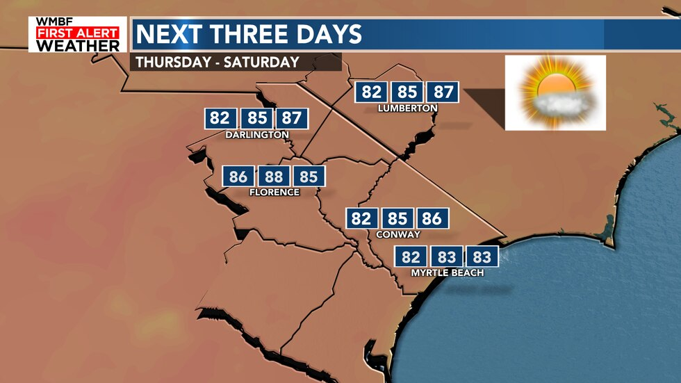 We continue to warm into the first half of the weekend.