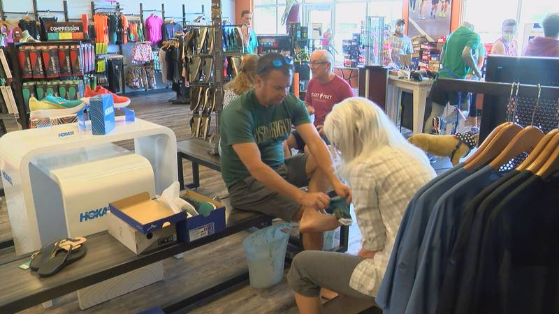 Fleet Feet Myrtle Beach was one of the many businesses slammed with customers over the tax-free...