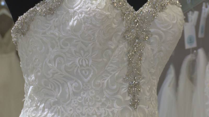 Select bridal gowns marked down from $99 to $899.