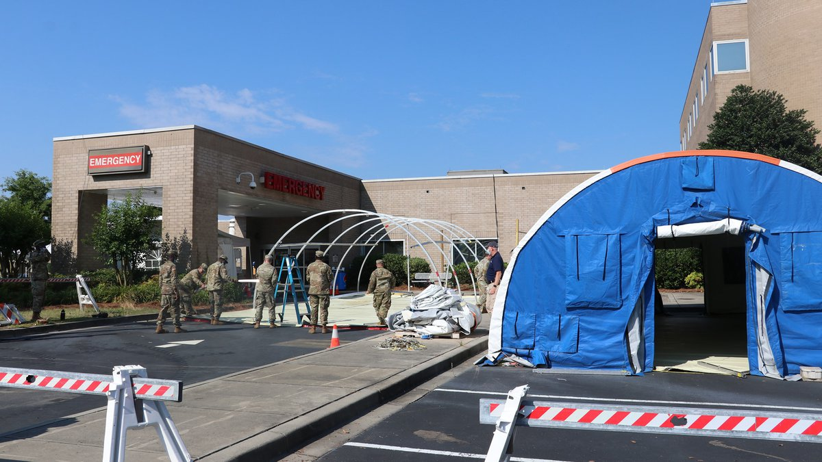 Conway Medical Center says they are removing their COVID-19 triage tents.