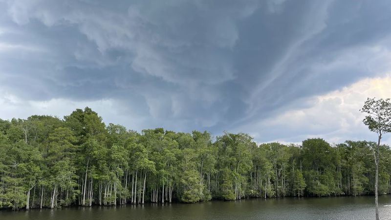 Storms passed over the Intracoastal Waterway one mile south of the Socastee Swing Bridge.