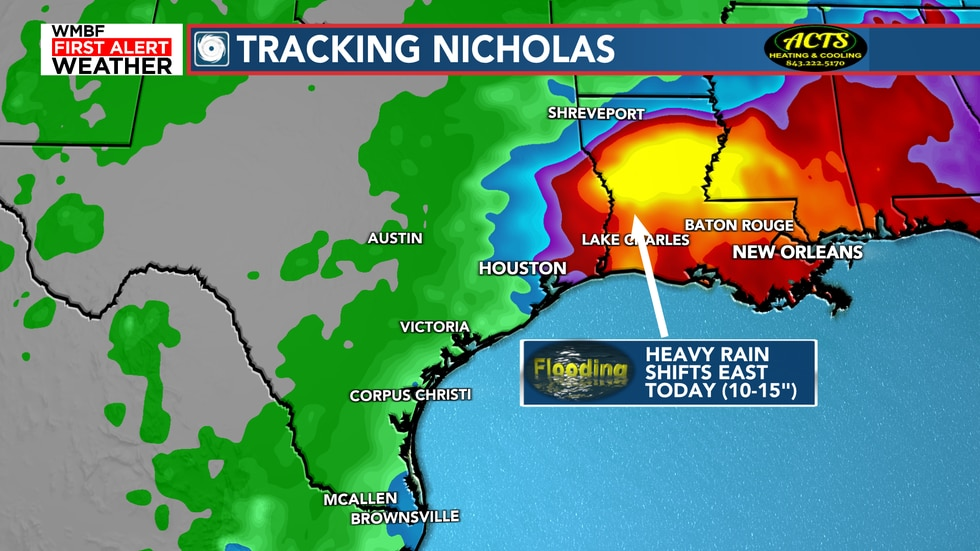Heavy rain will continue to cause widespread flooding issues across Texas and Louisiana.