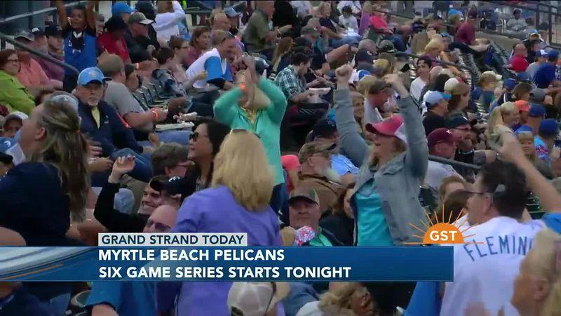Myrtle Beach Pelicans start six-game series