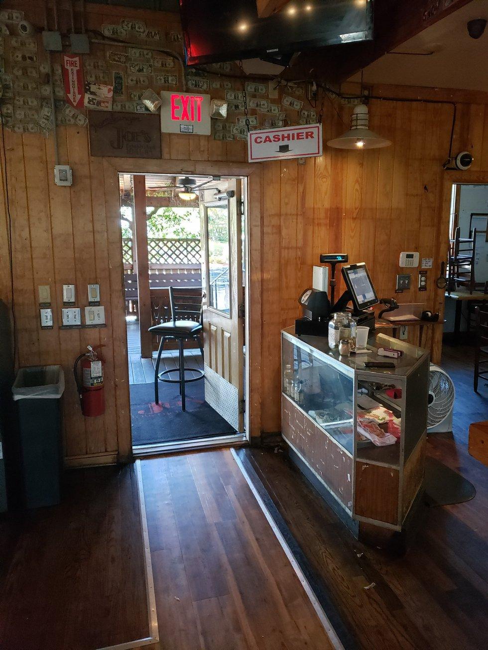Hamburger Joe's empties its walls for employees.