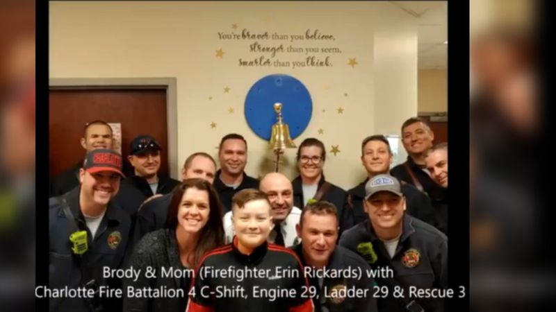 The department tweeted a heartwarming video Saturday afternoon showing Brody, the son of...